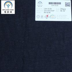 205gsm Plain teñido algodón Lino Tejido Spandex Lch-0120