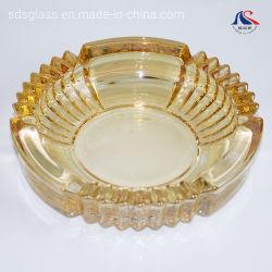 Luxo personalizado gold plating cinzeiro de charutos de vidro