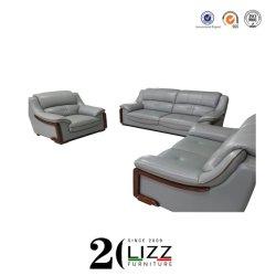 Mobiliario de casa popular moderno salón sofá de cuero puro