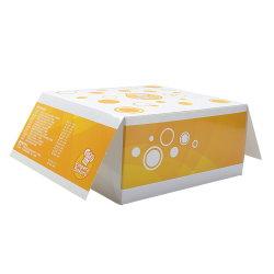 A medida Caja de papel cartón de grado alimenticio, Custom Burger Fried Chicken Box, Taco de la bandeja de cartón, el embalaje de vajilla desechable