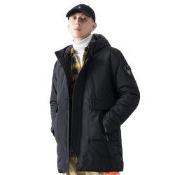 冬の偶然のフード付きのパッドを入れられたコートの人は帽子の防風の方法Parkasのポケットジャケットを厚くする