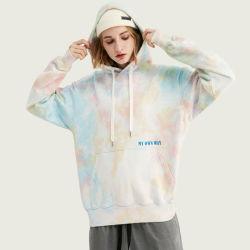 Hoodie 스웨트 셔츠 Hoody 스웨터 여자 면 동점 염료 Hoodie 100%년 폴리에스테를 인쇄하는 주문 로고