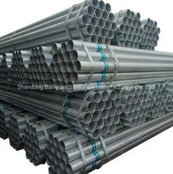 Q195 Q235 Q345 6m 길이 고온 DIP 아연 도금 철 파이프 고온 DIP 아연 도금 강관 Gi 둥근 튜브 제조업체