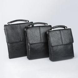 O OEM Crossbody bag bolsa de negócios dos homens mala preta de couro