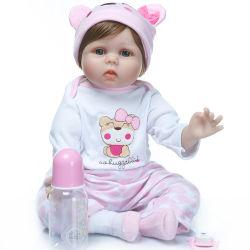 Lebensechter 22 Zoll 55 cm-weiche Silikon-Vinylwieder geboren Baby-Puppe-lebendiges neugeborenes Baby - Puppe scherzt weiche Vinylpuppe Spielkameraden