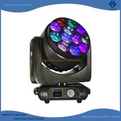 Potente escenario de cabezal móvil de lavado con zoom de 12 x 40 W LED Iluminación disco DJ