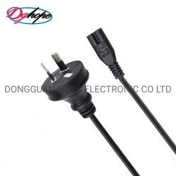 Japan-Netzanschlusskabel Draht-flache Stecker JIS 8303 StandardVersorgung-Netzkabel 7 Ampere-3 mit kundenspezifischer Länge, PSE Strahl genehmigt