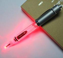 2 in 1 penna di Ballpoint di Light-up del LED con luce rossa