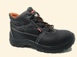 Zapatos de cuero auténtico básicas de seguridad botas de trabajo PU/PU único corte de media naranja