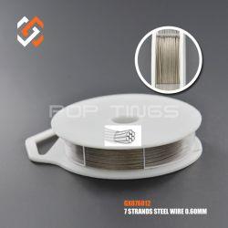 Aço inoxidável 7 vertentes Tiger Tail Cordão artesanais fio pendurados GX076012 para joalharia tornando