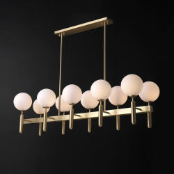 Indicatore luminoso Pendant bianco del lampadario a bracci del rame LED della camera da letto della sala da pranzo dello schermo di nuovo art deco