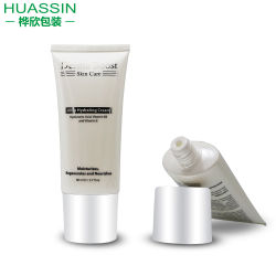 Groothandel 80 ml Witte PE Plastic Kosmetische verpakking zachte tandpasta/huidverzorging Roombuis
