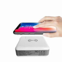 Bank van de Macht Qi van Shenzhen 6700mAh de Draagbare Draadloze met Adapter 3 In1 de Snelle EU Wereldwijd van de Adapter van de Stop van de Adapter van de Reis ons Lader van de Muur van de Britse Qi de Draadloze Reis van de Lader