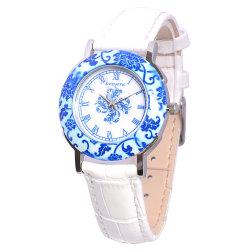По продажам смотреть на заводе Роскошные часы дамы с металлический логотип с керамическим покрытием случае ремешок из натуральной кожи Private Label просмотр для девочек