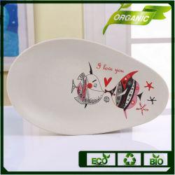 Venta de fábrica Diseña tu propio vajillas vajillas de bambú moderno Navidad Juego de pintar con peces de dibujos animados
