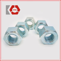 ASTM A194 из углеродистой стали с высоким пределом упругости гайку синий белый цинкового покрытия с шестигранной головкой и гайка