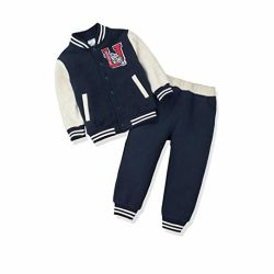 Littler enfants Baby Clothing Veste de survêtement de Baseball + Jeu de costume pantalon sport tenues