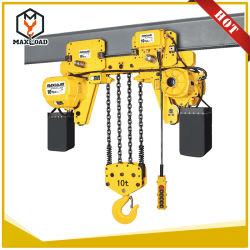Практические и многофункциональных Maxload 10 тонн запас электрическая цепная таль со сверхнизким энергопотреблением