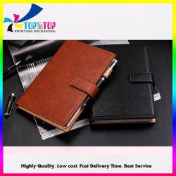 2019 Promotionele Custom Printing PU Leather Luxury Notebook Diary Printing Met geschenkverpakking en tas