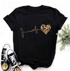 La mode Custom style décontracté de femmes d'été T-shirt en coton