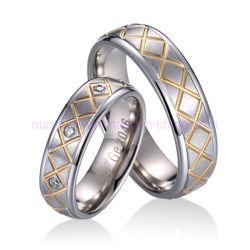 Form-Wolframschmucksache-keltischer Ring im Gold