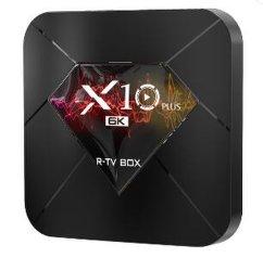 Neuer R-TV Kasten X10 des Fabrik-Direktverkauf-plus gesetzten Spitzenkasten4g+32g/64g Android 9.0 Quanzhi H6 hohen Definition 6K androiden Fernsehapparat