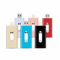 3 en 1 Logo personnalisé de 32 Go en vrac en métal de 64 Go de mémoire flash USB OTG Stick dur