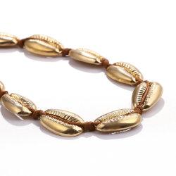 La moda de joyería en oro amarillo Collar con material de aleación de cobre