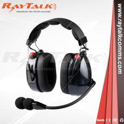 Kohlenstoff-Faser-Geräusche, die Kopfhörer für Funksprechgeräte beenden