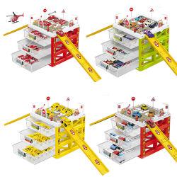 Het Stuk speelgoed van het Parkeerterrein van de houtconstructie voor Jonge geitjes 2 van het omhoog Onderwijs drie-Verhaal ModelVastgestelde het Leren van het Parkeerterrein Jaar Stuk speelgoed voor de Meisjes van de Jongens van de Baby van Kinderen met MiniAuto's