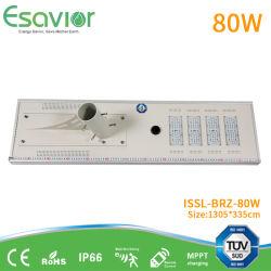 Tempo no Modo Dim mais de 45 horas à prova de IP66 80W a Lâmpada da Luz do LED do sensor de movimento Solar Iluminação LED solares