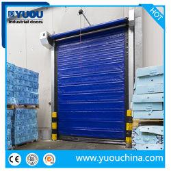 Isolamento térmico automático Industrial Cortina de tecido de PVC-congeladores de sobrecarga de Ação Rápida de Alta Velocidade Rápida arregaçar as portas para o Depósito de Armazenagem Fria