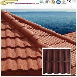 Revestimiento de piedra Teja Teja de material de construcción de las tejas de metal
