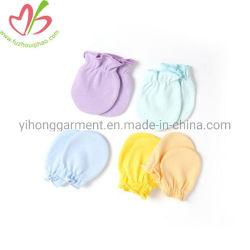 100% algodão Bonitinha Colorido Fingerless Ruffles lactente luvas para bebés