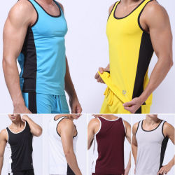 Chaleco sin mangas músculo Deporte Atlético Sexy Mens Comercio al por mayor Camiseta de tirantes