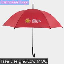자동 Oopen 비뚤어진 손잡이 주문 로고 똑바른 우산
