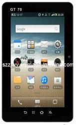 كمبيوتر لوحي بنظام Android 2.2 بحجم 7 بوصات/لوحة/لوحة فائقة/منتصف شاشة سعوية تعمل باللمس المتعدد ومخرج HDMI وكاميرا أمامية وخلفية وWiFi وتقنية الجيل الثالث المدمج ونظام تحديد المواقع العالمي (GPS) المدمج وBluetooth®