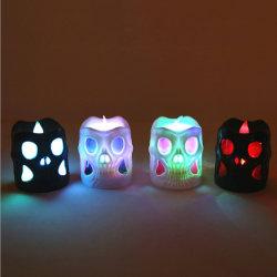 Van LEIDEN van de Kaarsen van Tealight de Kaars Halloween van de Schedel voor het Licht van de Partij van de Vakantie van Halloween