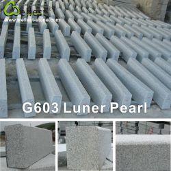 Usine naturelle gris flammé G603 Curbstone Pearl lunaire de granit
