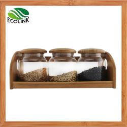 Герметичность стекла кувшин для хранения продуктов 3ПК с помощью бамбука подставки