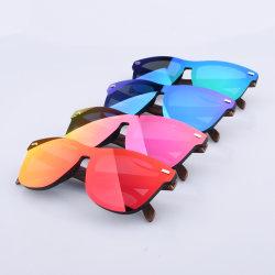 Мода Tr90 Деревянные Печать оттенков защитные очки с УФ защитой поляризованной безободковые солнечные очки