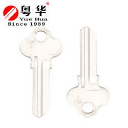 Оптовая торговля дешевые цены никелированный латунный ключ не запрограммирован Логотип дизайн Lw4 ключа не запрограммирован для используется замка двери водителя