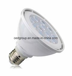Lampadine bianche dell'alluminio PAR30 LED di caso di E27 12W con Filips 3030SMD e AC100-240V
