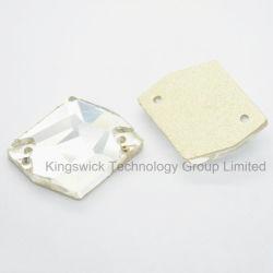 На Sew! Crystal подарочная камень с отверстием Diamond форму .