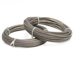 7*7 1*7 Cable de acero inoxidable de 5mm 6mm de malla de alambre