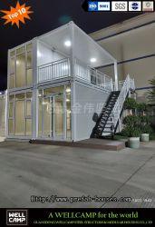 Venda a quente Wellcamp América do Norte estilo Loft Duplex Casa Modular Flat Pack Contentor Casa Villa