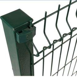 High Security Home Outdoor Decزخرفي المعدن ثلاثي الأبعاد منحني الجدار الملحوم لوحات سور انحناء الحديقة / سور حماية السكة الحديد