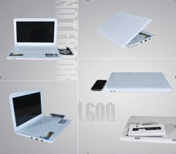 13.3inch Laptop with DVD RW, Support Windows, Linux