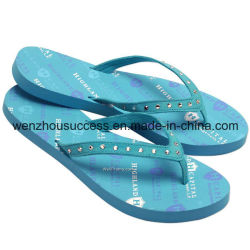 Lady Beach Slipper Shoes PVC UpperのPE Outsoleのための新しいArrival Fashion Flip Flop