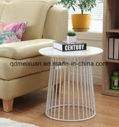 Uo, table de thé en fer forgé, petite table ronde Le salon est en bois véritable petit téléphone canapé table tout en un peu de thé de café nordique Table (M-X3484)